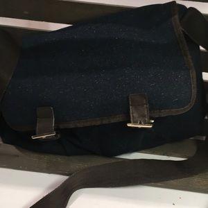 Old Navy Blue Fabric Messenger Bag